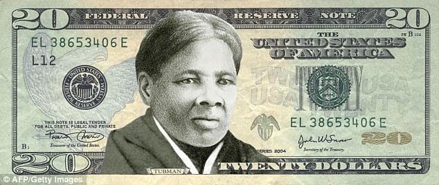 Hình tư liệu này của tổ chức 'Women On 20's' chụp ngày 29/4/2015, thể hiện chân dung bà Harriet Tubman trên tờ 20 đô Mỹ. (AFP/Getty Images)