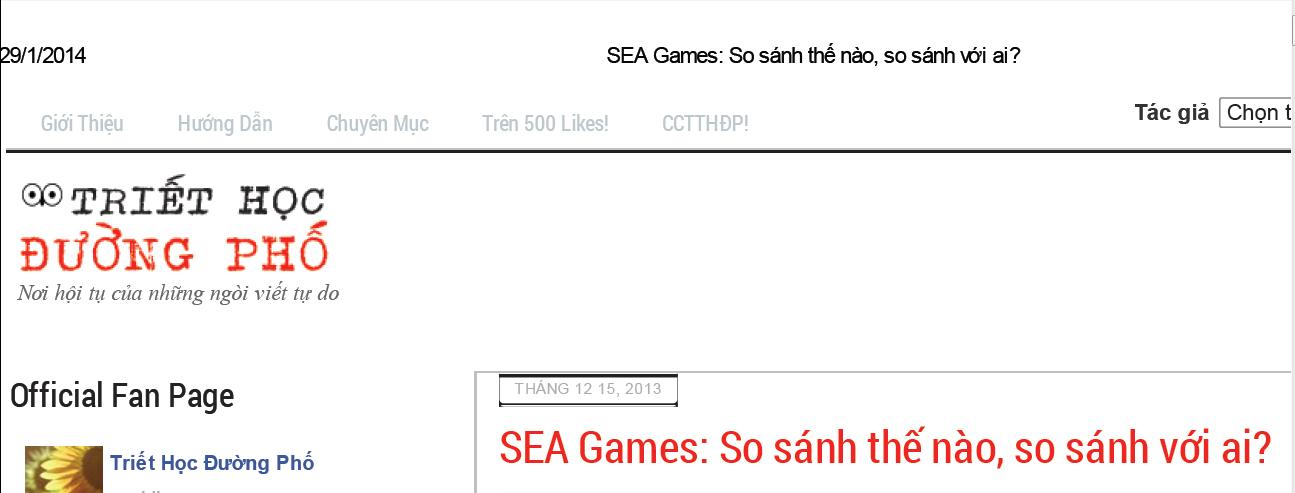 Đổi nhan đề (Ảnh chụp màn hình vào ngày 29/1/2014, bản cache, bài đã bị gỡ)